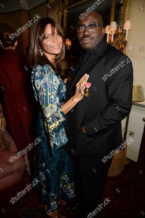 Countess Debonaire von Bismarck and Edward Enninful