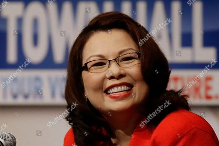 Democratic U.S. Rep. Tammy Duckworth, answers questions during the first televised debate with Republican U.S. Sen. Mark Kirk, in what's considered a crucial race that could determine which party controls the Senate, at the University of Illinois in Springfield, Ill