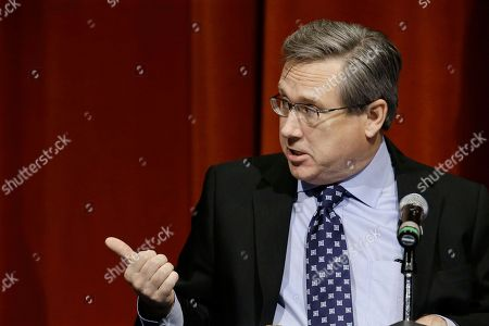 Republican U.S. Sen. Mark Kirk, answers questions during the first televised debate with Democratic U.S. Rep. Tammy Duckworth, in what's considered a crucial race that could determine which party controls the Senate, at the University of Illinois in Springfield, Ill