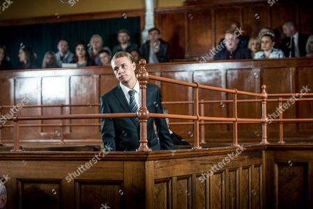 As the foreman of the jury pronounces the verdict of Clayton's, as played by Callum Harrison, trial emotions flood through the court room. (Ep 9020 - Monday 24th October 2016)