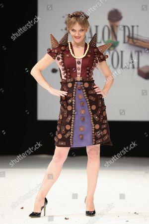 Maya Lauque on the catwalk