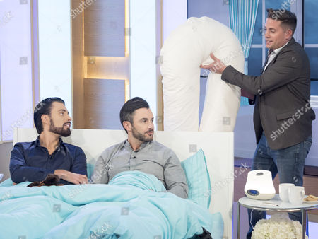 Rylan Clark and Dan Clark-Neal with Steve Wilson