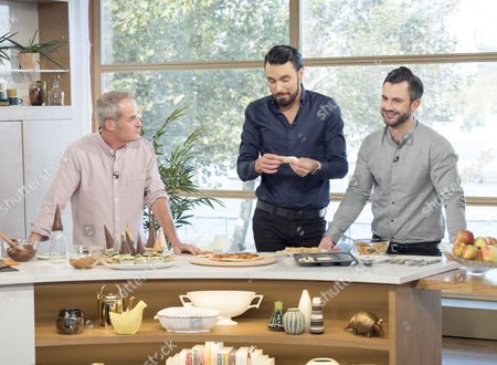 Phil Vickery with Rylan Clark and Dan Clark-Neal
