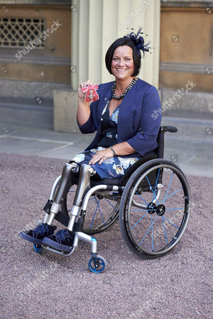 Stock Picture of Martine Wright after receiving her Member of the Order of the British Empire (MBE)