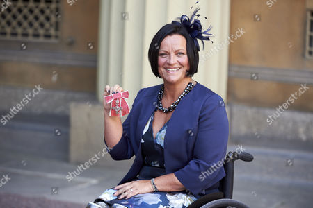 Stock Photo of Martine Wright after receiving her Member of the Order of the British Empire (MBE)