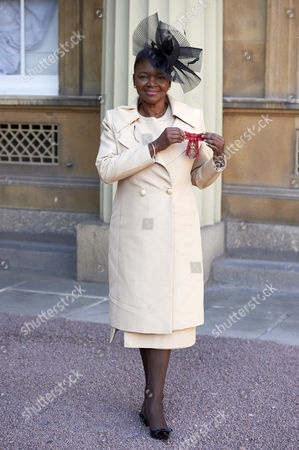 Valerie Amos after receiving her Member of the Order of the Companions of Honour