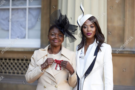 Valerie Amos after receiving her Member of the Order of the Companions of Honour and Naomi Campbell