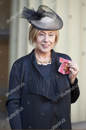 Eileen Cooper after receiving her Officer of the Order of the British Empire (OBE)
