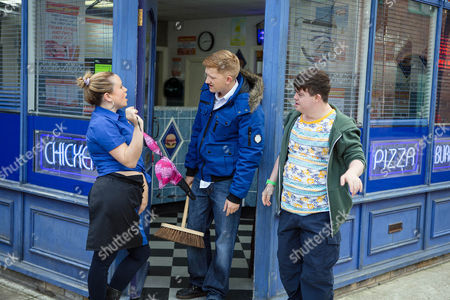 Gemma, as played by Dolly-Rose Campbell, admits to Alex, as played by Liam Bairstow, she's secretly sleeping in the kebab shop as she daren't return to the estate as she fears for her life, how will Alex respond? (Ep 9026 - Wednesday 2nd November 2016)