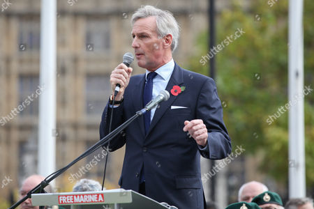 Richard Drax MP. Former and serving members of the armed forces take part in a rally in support of support of Sgt Alexander Blackman, also known as 'Marine A', who was given a life sentence after being convicted of murdering a wounded Taliban fighter.