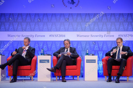 The Deputy Minister of the Ministry of Defence of the Czech Republic, Daniel Kostoval, Deputy Minister of the Ministry of Defence of the Republic of Hungary, Tamás Vargha and the Undersecretary of State of Ministry of National Defense of the Republic of Poland, Tomasz Szatkowski
