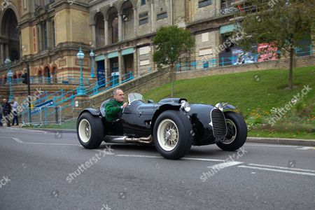 "Parade of Cars presented by the Jesnen Owners' Club. HWM Alta ""The Stovebold Special"" as raced by Sir Stirling Moss."