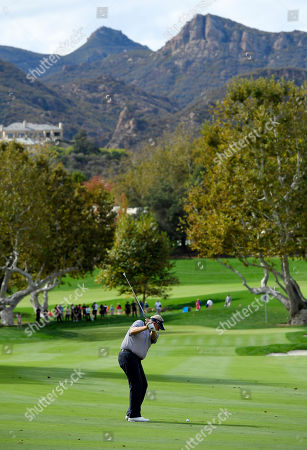 Colin Montgomerie Colin Montgomerie, of Scotland, hits his approach shot on the fourth hole during the second round of the PowerShares QQQ Championship golf tournament, at Sherwood Country Club in Thousand Oaks, Calif