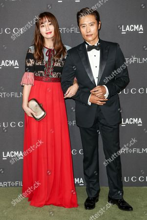 Stock Photo of Byung-hun Lee and Lee Min-jung