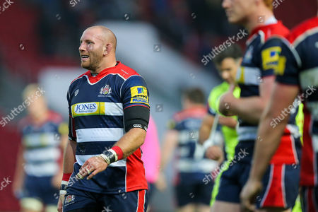 Rob Hawkins of Bristol Rugby looks frustrated after a loss