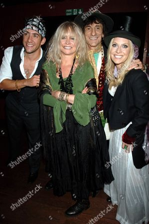 Jonathan Togo, Jo Wood, Ronnie Wood and Emily Procter