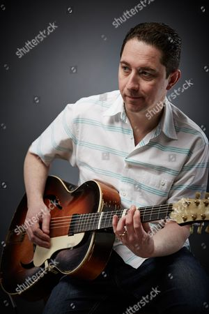 Bath United Kingdom - February 19: Portrait Of English Blues Rock Guitarist Chris Corcoran Photographed In Bath On February 19