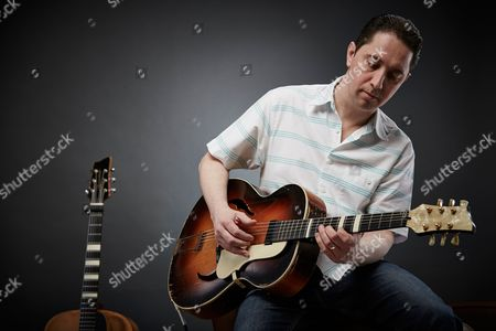 Stock Picture of Bath United Kingdom - February 19: Portrait Of English Blues Rock Guitarist Chris Corcoran Photographed In Bath On February 19