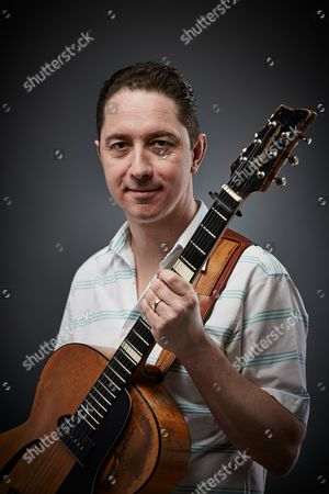Stock Image of Bath United Kingdom - February 19: Portrait Of English Blues Rock Guitarist Chris Corcoran Photographed In Bath On February 19