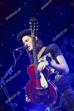 Swindon United Kingdom - October 9: Portrait Of English Indie Rock Musician James Bay Photographed Soundchecking Before A Live Performance At Oasis Leisure Centre In Swindon On October 9
