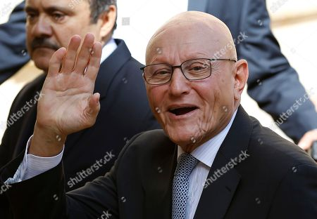 Tammam Salam Lebanese Prime Minister and lawmaker Tammam Salam waves to journalists upon his arrival to the parliament building to elect a new President, in Beirut, Lebanon, . Lebanese security forces tightened security in downtown Beirut on Monday as lawmakers gathered to elect a new president, a vote that's expected to end more than two years of a political vacuum in the country's top post