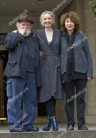 Julie Delpy with her parents Albert Delpy and Marie Pillet promoting the film 'Two Days in Paris'