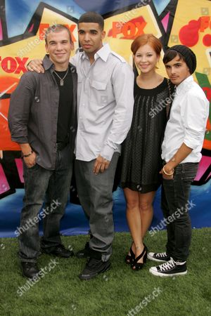 Stock Picture of Shane Kippel, Drake (Aubrey Graham), Stacey Farber and Adamo Ruggiero