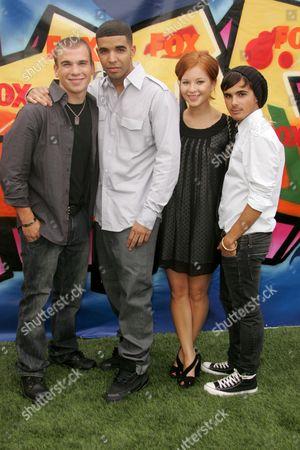 Stock Image of Shane Kippel, Drake (Aubrey Graham), Stacey Farber and Adamo Ruggiero