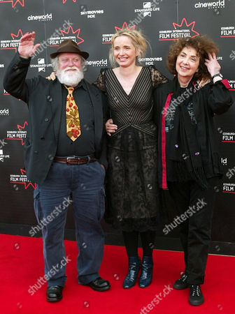 Julie Delpy promoting the film 'Two Days in Paris', accompanied by her parents Albert Delpy and Marie Pillet