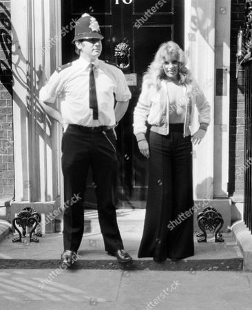 Policeman with Mary Millington