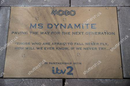 Niomi McLean-Daley, AKA Ms Dynamite's 'Paving the Way' paving stone