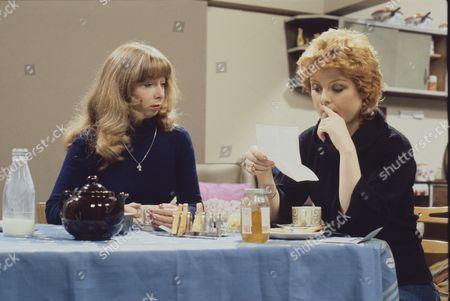 Helen Worth (as Gail Potter) and Cheryl Murray (as Suzie Birchall)