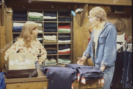 Helen Worth (as Gail Potter) and Lawrence Mullin (as Steve Fisher)