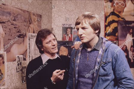 Johnny Briggs (as Mike Baldwin) and Lawrence Mullin (as Steve Fisher)