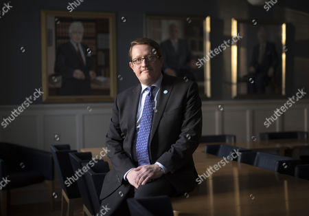 Stock Photo of Birgir Armannsson, MP for ruling Independence party, photographed in the Parliament building.