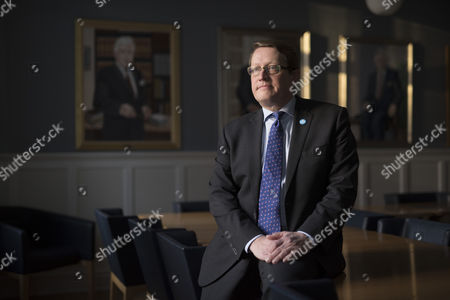 Stock Image of Birgir Armannsson, MP for ruling Independence party, photographed in the Parliament building.