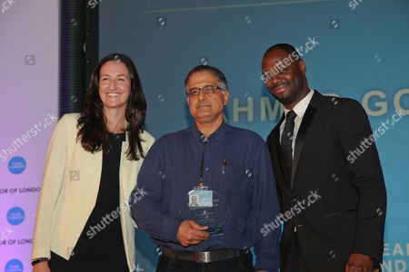 Ledley King gives Mentoring and Coachin Award to Ahmad Goudzari. Mayor of London praises volunteers for the work they do to help fellow Londoners and make the city a better place.