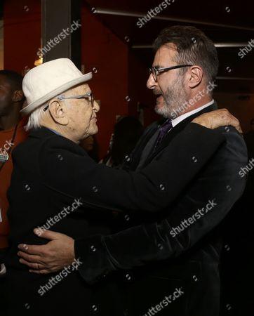 Norman Lear and Jon Robin Baitz