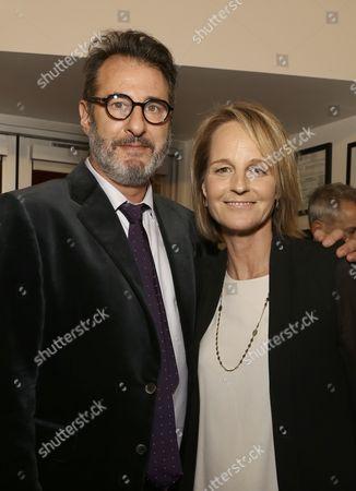 Jon Robin Baitz and Helen Hunt