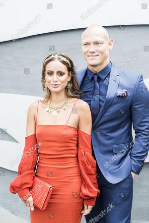 Desiree Deravi and Michael Klim pose at The Birdcage