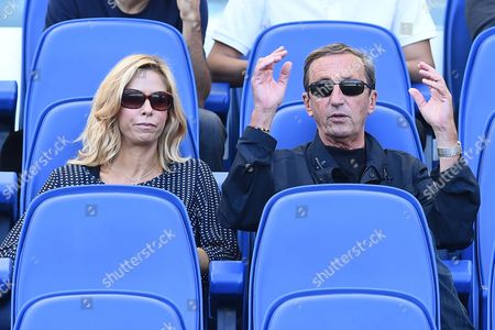 Stock Photo of Gianfranco Fini and wife Elisabetta Tulliani