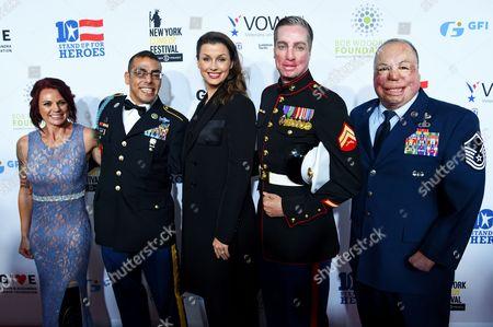 Stock Picture of Sarah Rudder, Michael Kacer, Bridget Moynahan, Aaron Mankin, Sgt Israel Del Toro Jr