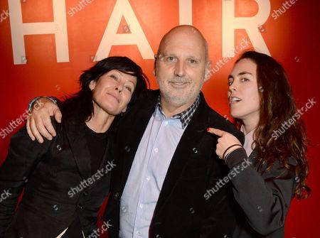 Amanda Harlech, Sam McKnight and Tallulah Harlech