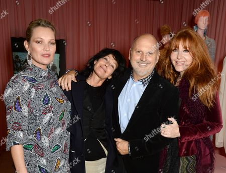 Kate Moss, Amanda Harlech, Sam McKnight and Charlotte Tilbury