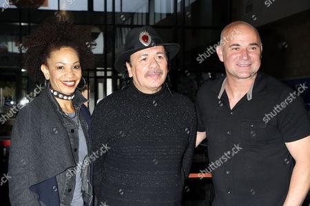 Cindy Blackman-Santana, Carlos Santana, Andre Agassi