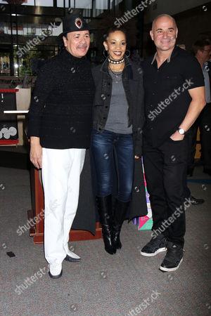 Carlos Santana, Cindy Blackman-Santana, Andre Agassi