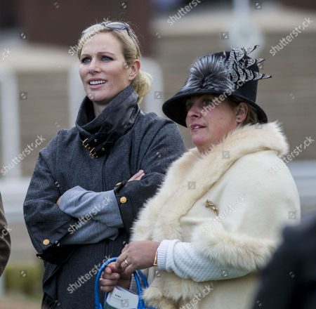 Zara Tindall watches her horse Somewhere To Be run in the White Christmas Parties Standard Open National Hunt Flat race, ridden by former boyfriend jockey Ricard Johnson with Belinda Keighley the wife of trainer Martin Keighley.