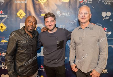 Donnell Rawlings, Michael D. Ratner, Kenny Mayne Donnell Rawlings, director Michael D. Ratner, and Kenny Mayne attend the 5th Quarter Premiere presented by OBB Pictures and go90 at the UTA Theater, in Beverly Hills, CA