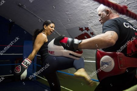 Ruqsana Begum at the KO Muay Thai Gym in east London
