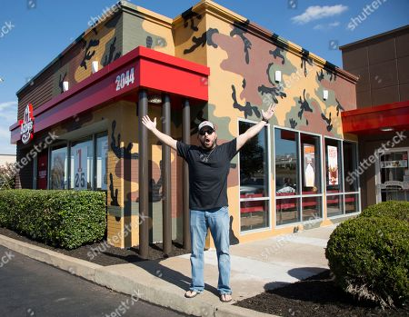 Country music star Tyler Farr seen at Arby's on in Nashville, Tenn. celebrating the brand's It's Meats Season hunting campaign